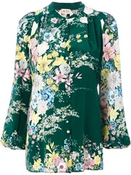 N 21 No21 Floral Print Blouse Green
