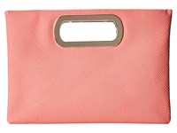 Jessica Mcclintock Tiffany Snake Print Handle Clutch Coral Clutch Handbags