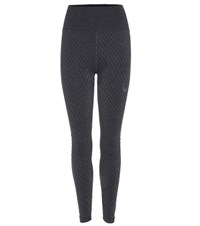 Lucas Hugh Technical Knit Stardust Leggings Black