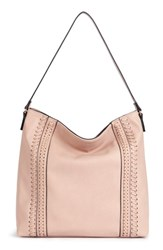 Sole Society Destin Faux Leather Hobo Bag Beige Blush