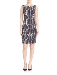 Milly Slim Fit Sheath Dress White Black