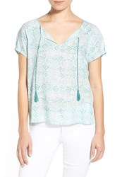 Women's Hinge Short Sleeve Popover Top