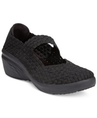 Bare Traps Kassie Mary Jane Wedges Women's Shoes Black