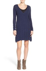 Women's Lamade V Neck Cable Knit Sweater Dress