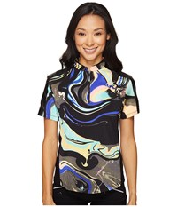 Jamie Sadock Galaxy Print Short Sleeve Top Licorice Women's Clothing Multi