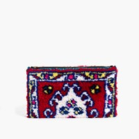 Madewell Soukietm Modern Clutch Bag Red Navy Ivory