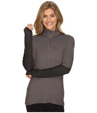 Spyder Lapis Therma Stretch T Neck Top Weld Women's Long Sleeve Pullover Gray