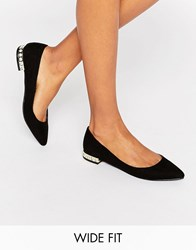 New Look Wide Fit Ballet Pump Black