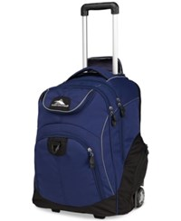 High Sierra Powerglide Rolling Backpack In True Navy