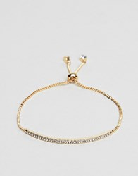 Ny Lon Nylon Pull Through Bracelet Gold