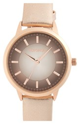 Topshop Women's Ombre Border Dial Leather Strap Watch 35Mm