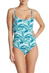 Tommy Bahama Amongst Fronds Reversible One Piece Swimsuit Ming Jade