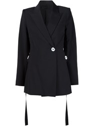 Ellery Single Button Blazer Black