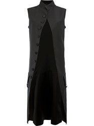Maison Martin Margiela Sleeveless Mid Length Coat Black