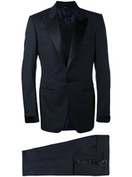 Tom Ford Classic Formal Suit Men Silk Cupro Wool 52 Blue