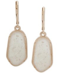 Lonna And Lilly Gold Tone Stone Drop Earrings White