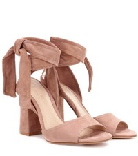 Gianvito Rossi Nika Suede Sandals Pink