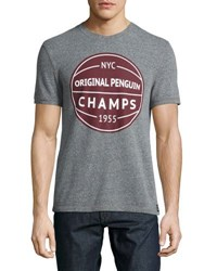 Original Penguin Champs Heathered Tee Gray