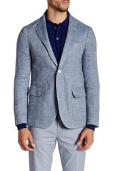 Gant R. The Herringbone Linen Jacket Blue