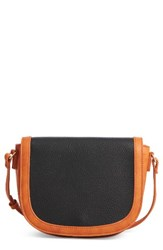 Sole Society Finnigan Faux Leather Crossbody Bag Black Black Cognac