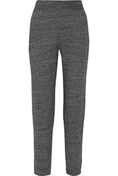 Alexander Wang Cotton Blend Terry Track Pants Gray