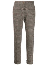 Etro Checked Cropped Trousers 60