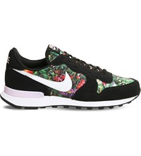 Nike Internationalist Floral Trainers Black White Pink