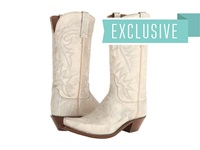 Lucchese N9673.S54 Silver Off White Cowboy Boots
