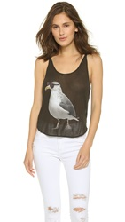 Wildfox Couture Cool Gull Hiker Tank Dirty Black