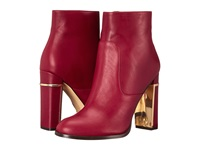 Calvin Klein Karlia Dark Red Leather Women's Dress Zip Boots
