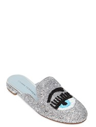Chiara Ferragni 10Mm Beaded Flirting Eye Glitter Mules