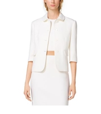 Michael Kors Boucle Crepe Jacket White
