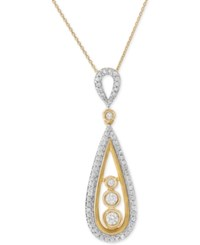 Wrapped In Love Diamond Teardrop Pendant Necklace 1 2 Ct. T.W. 14K Gold Yellow Gold