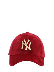 New Era Mlb Quilted 9Forty Techno Baseball Hat Red