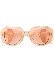Jacques Marie Mage Loulou Sunglasses Nude And Neutrals