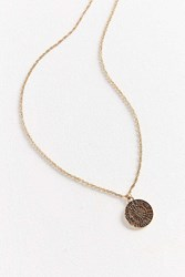 Urban Outfitters Rising Sign Pendant Necklace Gold