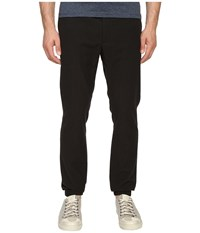 Marc Jacobs Rumple Stripe Cotton Pants Washed Black Men's Casual Pants
