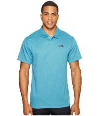 The North Face Short Sleeve Crag Polo Blue Moon Heather Men's Short Sleeve Knit