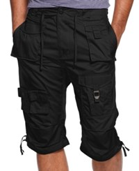 Sean John Shorts Big And Tall Classic Flight Cargo Shorts Pm Black