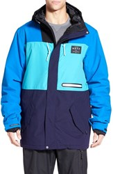 Men's Neff 'Trifecta' Water Resistant Colorblock Snowboard Jacket