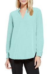 Women's Vince Camuto Back Seam Mandarin Collar Tunic Aquamarine