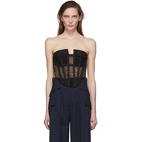 Dion Lee Black Lace Pocket Corset