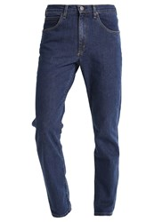 Lee Brooklyn Straight Straight Leg Jeans Dark Stone Wash Dark Blue Denim