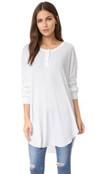 Wildfox Couture Ian Thermal Henley Clean White