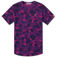 A Bathing Ape Colour Camo Long Length Tee Purple