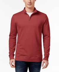 Club Room Men's Quarter Zip Sweatshirt Only At Macy's Melon