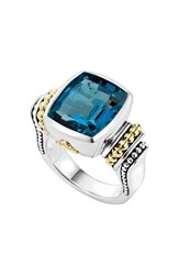 Lagos Women's 'Caviar Color' Medium Semiprecious Stone Ring London Blue Topaz