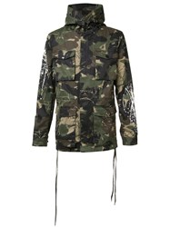 Haculla Camouflage Print Coat Green