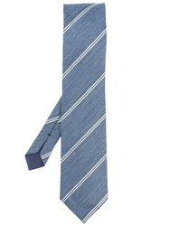 Tom Ford Double Stripe Classic Tie Blue