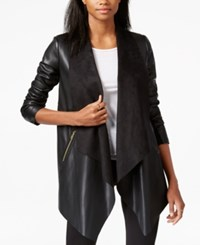 Bar Iii Pleather Flyway Jacket Only At Macy's